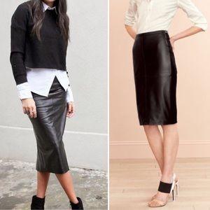 Bagatelle | Genuine Leather Pencil Skirt